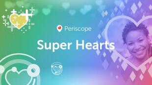 Supercœur, la nouvelle fonctionnalité de la plateforme de streaming live Periscope.