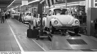 "A symbol of West Germany's ""economic miracle"": Volkswagen's iconic ""Beetle"" car"