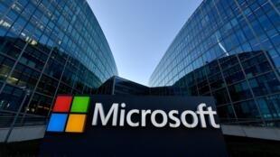 La sede francesa de la multinacional tecnológica estadounidense Microsoft, en Issy-Les-Moulineaux, a las afueras de París, en una imagen del 6 de marzo de 2018