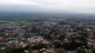 منظر جوي للعاصمة الغابونية ليبرفيل