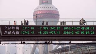 Les Bourses de Shanghai et de Shenzen ont été fermées pour la journée 28 minutes après le début de la séance