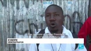 2021-02-15 12:13 Thousands of Haitians protest, alleging new dictatorship