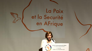La ministre française des Armées, Florence Parly, le 13 novembre 2017 à Dakar.