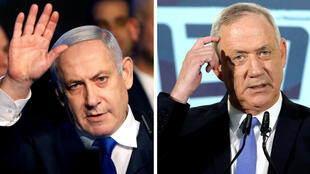 191211 Netanyahu and Gantz