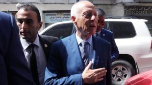 المرشح المستقل للدورة الثانية من الانتخابات الرئاسية التونسية قيس سعيّد. 17 سبتمبر/أيلول 2019.