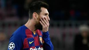 Lionel Messi, incrédule après la nouvelle déconvenue du Barça, mardi 5 novembre 2019.