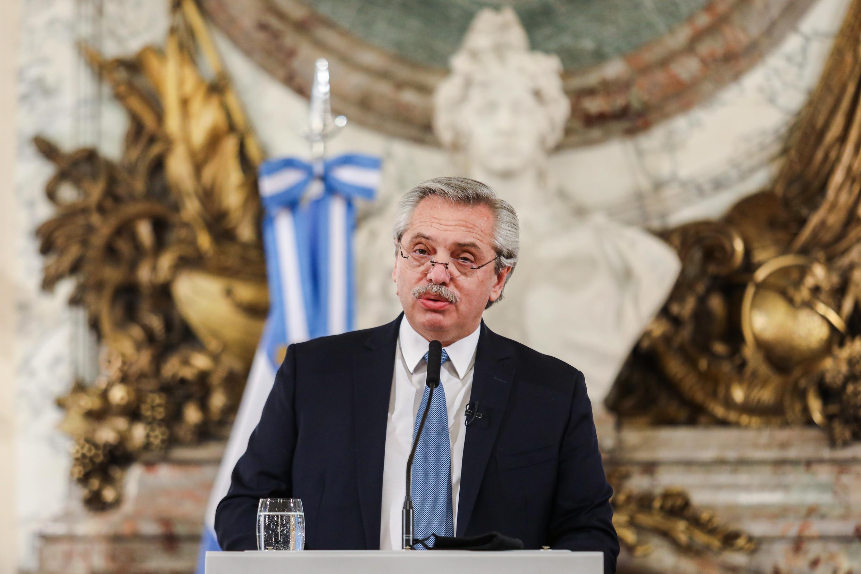 Le président de la République d'Argentine, Alberto Fernandez, à Buenos Aires, le 29 juillet 2020
