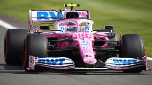 Life in the fast lane: Racing Point's Lance Stroll set the fastest time in practice on Friday