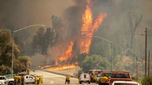 """L'incendie """"Carr"""" près de Whiskeytown, en Californie, le 27 juillet 2018."""
