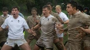 Whanganui Collegiate players perform a Haka at the Quadrangular Rugby Tournament match against Nelson College in Wellington