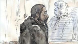 Peter Chérif lors de son procès à Paris le 26 janvier 2011.