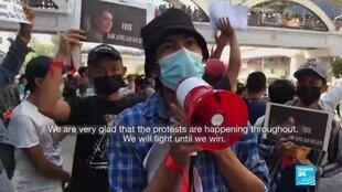 2021-02-09 18:13 'We will fight until we win': Myanmar protesters march again, defying ban on gatherings