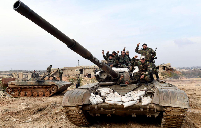 Photographie diffusée par l'agence officielle SANA (Syrian Arab News Agency), le 27 janvier 2020.