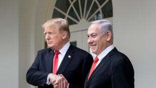 دونالد ترامب وبنيامين نتانياهو
