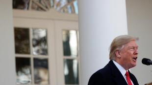 Donald Trump à la Maison Blanche mardi 26 novembre 2019.