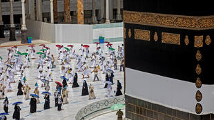 Saudi authorities are organising the first ever socially distanced hajj pilgrimage
