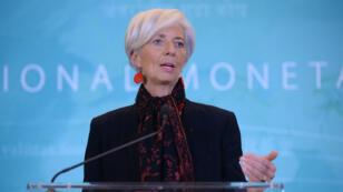 La directrice du FMI et ancienne ministre française de l'Économie Christine Lagarde, le 30 novembre 2015 à Washington.