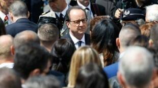 الرئيس الفرنسي فرانسوا هولاند خلال الاحتفال بالعيد الوطني الفرنسي في 26 يوليو 2016