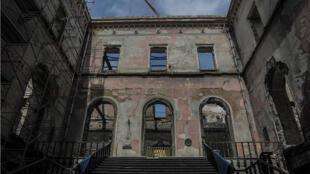 Vista general de las obras de reconstrucción del Museo Nacional de Río de Janeiro, Brasil, el 11 de febrero de 2019.