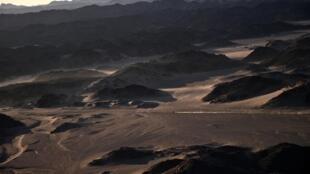 Photo d'archives de la région nord-est de l'Arabie saoudite, près du site de construction de Neom, prise le 6 janvier 2020