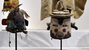 """Quelques masques """"Katsinam"""" de la tribu Hopi"""