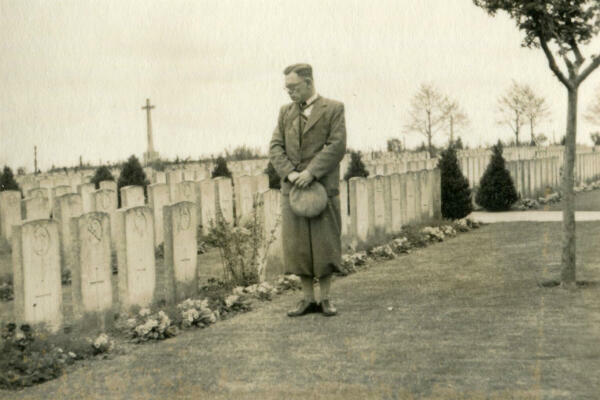 A British veteran visits Passchendaele in the 1930s.