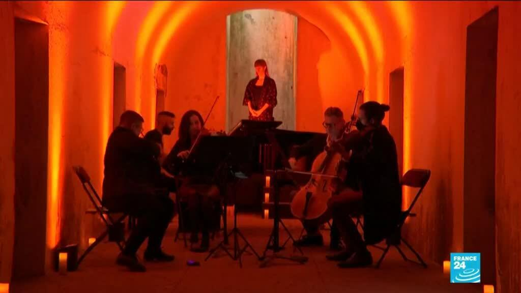 2021-06-03 11:13 New York Philharmonic performs in Brooklyn Catacombs