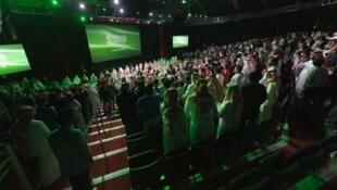 Ceremonia de apertura del festival del cine saudí, el 27 de marzo de 2017, en Dammam.