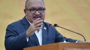 Le Premier ministre Peter O'Neill, le 18 novembre 2018 à Port-Moresby