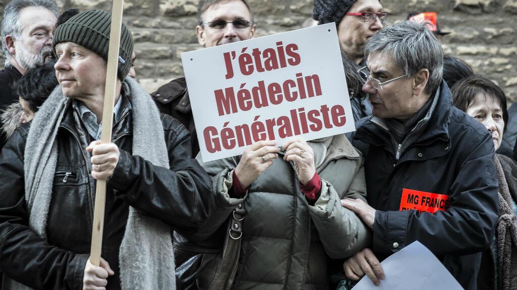 Des médecins manifestent le 23 décembre 2014 à Lyon.