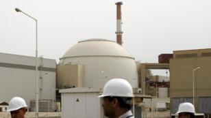Le principal réacteur de la centrale iranienne de Bouchehr, dans cette même ville, le 25 février 2009.