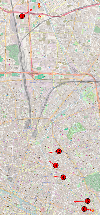 The venues targeted in the November 13, 2015, coordinated terrorist attacks in Paris