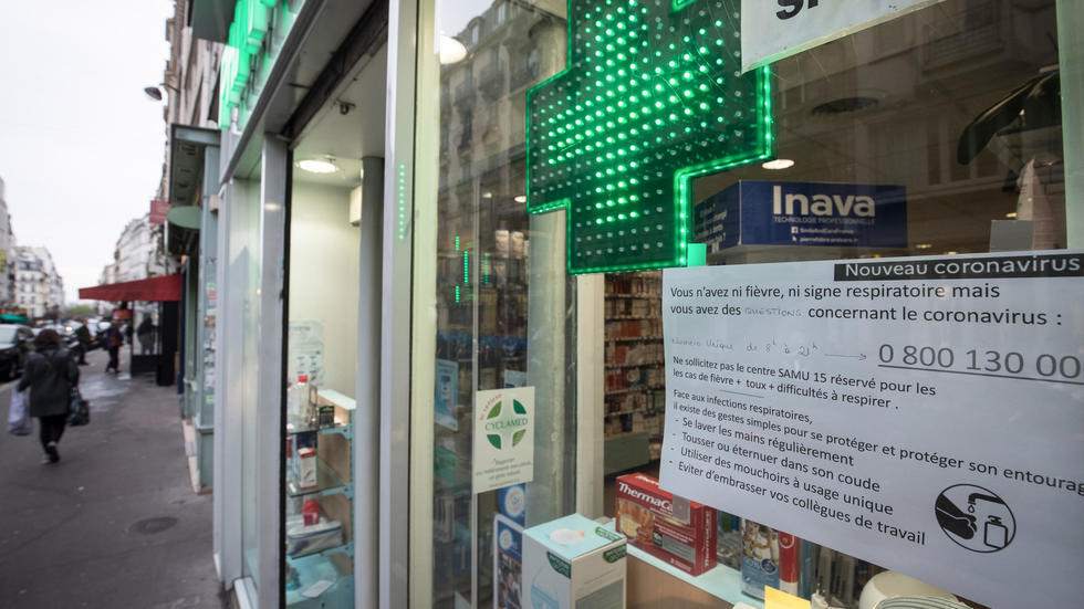 A pharmacy in Paris, March 16, 2020.