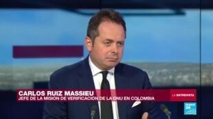 El jefe de la Misión de Verificación de la ONU para Colombia conversó sobre el balance del Acuerdo de Paz con France 24