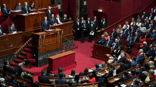Emmanuel Macron s'adresse aux députés et sénateurs réunis en Congrès, le 3 juillet 2017, à Versailles.