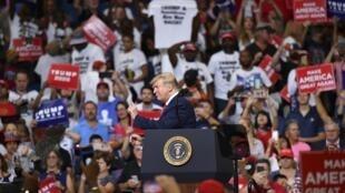 Donald Trump a officiellement donné mardi 18 juin 2019 à Orlando, en Floride, le coup d'envoi de sa campagne pour l'élection présidentielle de 2020.