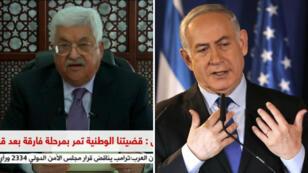 """Mahmoud Abbas a condamné mercredi 6 décembre 2017 la décision de Donald Trump. Benjamin Netanyahou a, lui, salué un """"jour historique""""."""