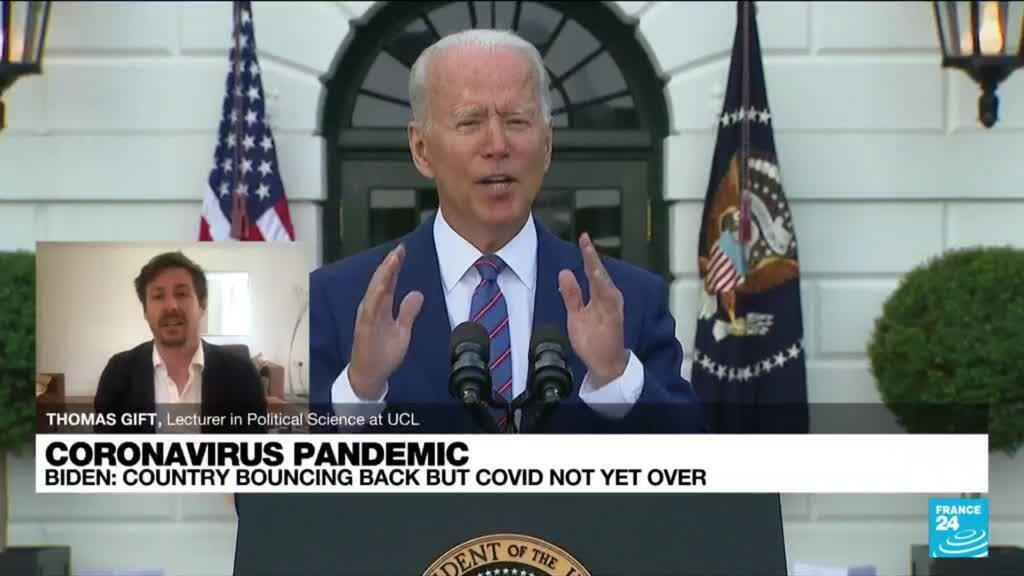 2021-07-05 13:32 Biden on Pandemic: We've gained the upper hand, but Covid not yet vanquished