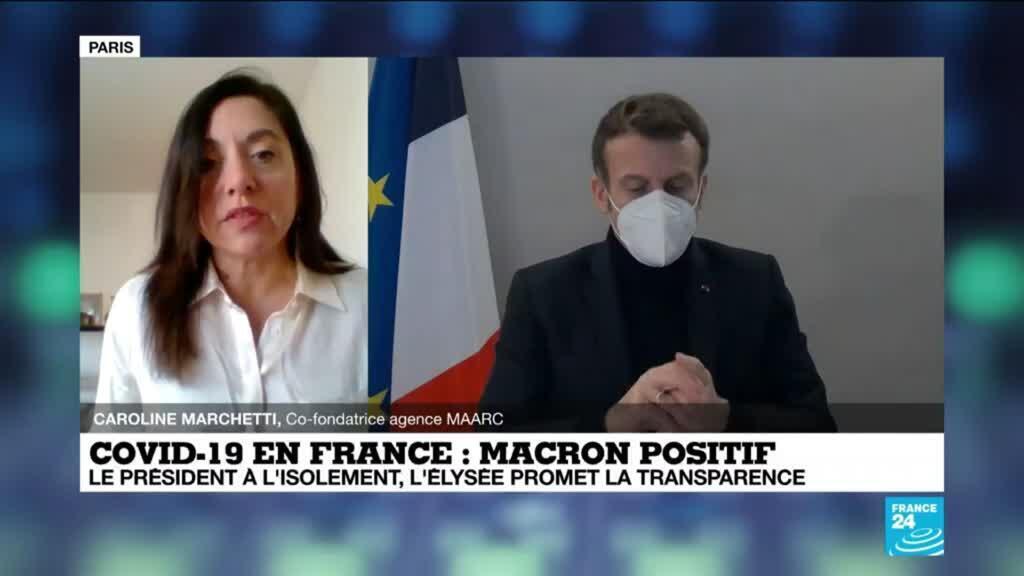 """2020-12-18 14:13 E. Macron positif au covid-19 : le président avait promis de la """"transparence"""" sur son état de santé"""