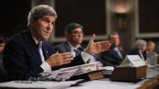 John Kerry au Sénat américain, le 29 juillet 2015.