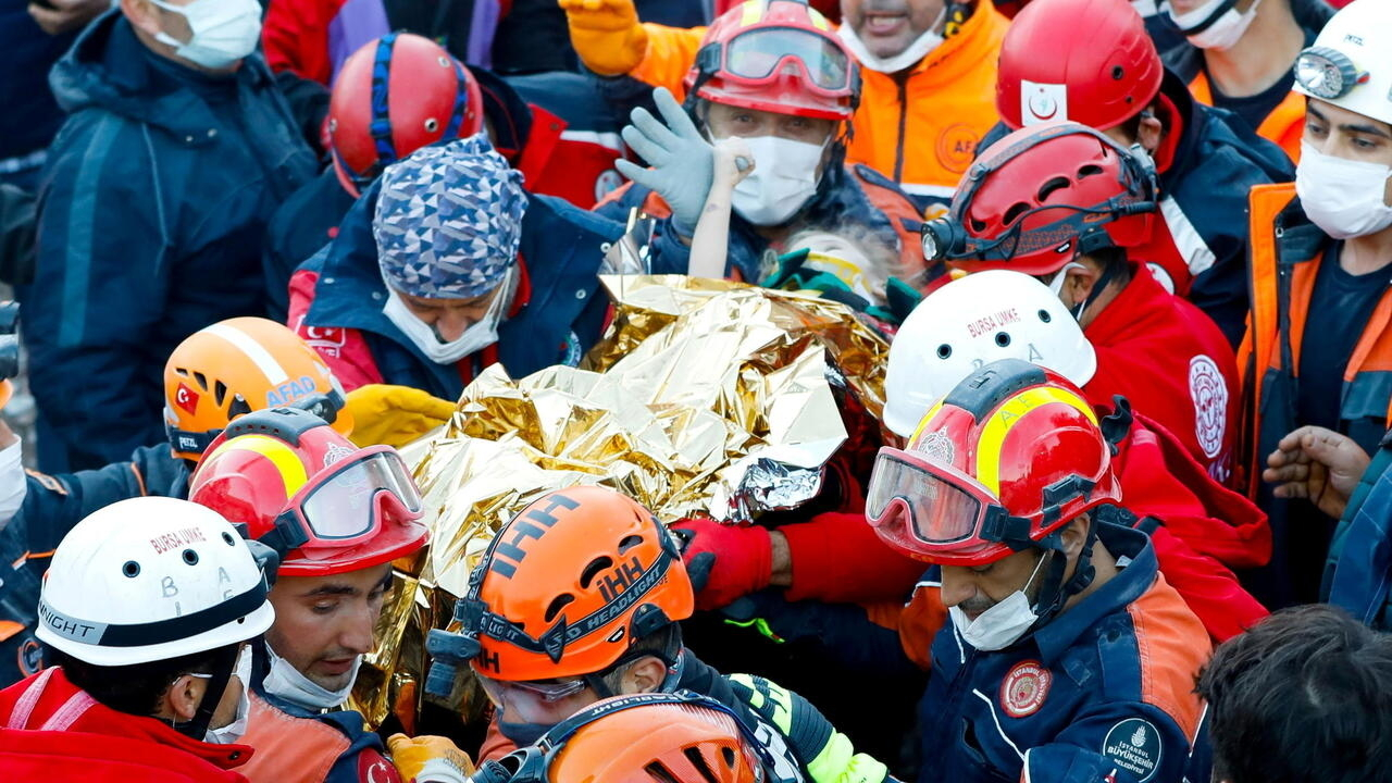 Three-year-old rescued from rubble in Turkey's Izmir as quake toll hits 85
