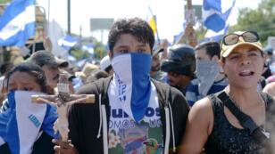 Des manifestants opposés au président Daniel Ortega, rassemblés à Managua, le 14 juillet 2018.