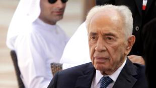 Le prix Nobel de la paix Shimon Peres photographié en mai 2015.
