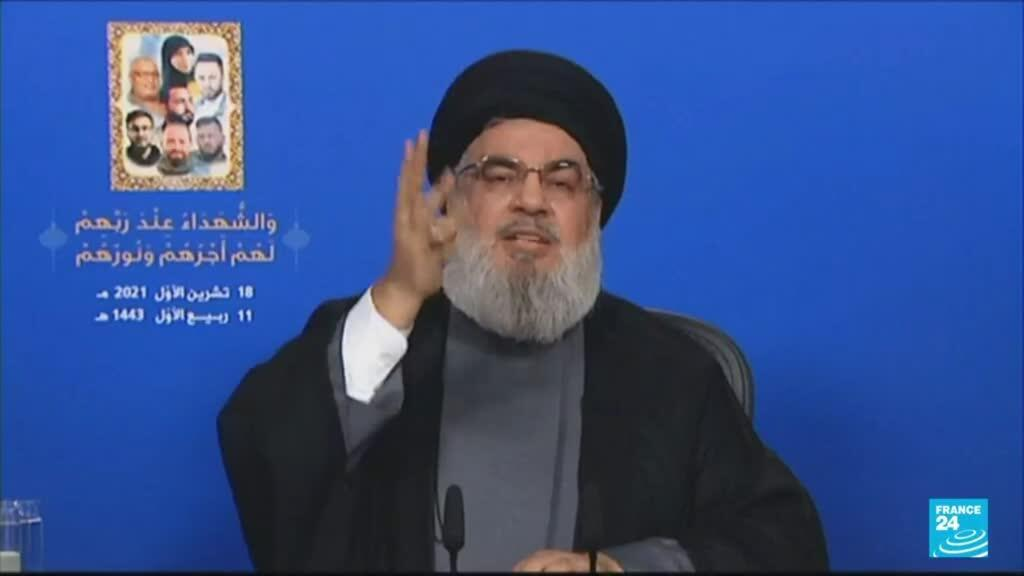 2021-10-19 08:31 Lebanon tensions: Hezbollah leader warns 100,000 fighters 'ready for combat'