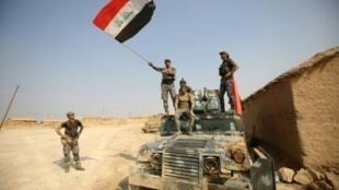 جنود عراقيون في الخوين في 23 تشرين الأول/أكتوبر 2016