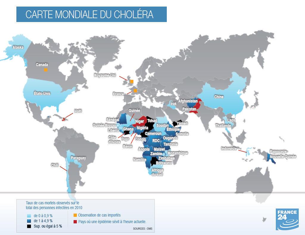Le choléra dans le monde