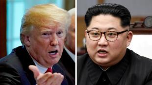Donald Trum ha mostrado una actitud contradictoria en torno a la cumbre con su homólogo Kim Jong-un. Mayo 24 de 2018.