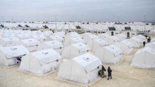 Camp de réfugiés syriens près de la frontière turque, le 30 janvier 2015.