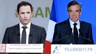 Benoît Hamon et François Fillon ont tous les deux présenté, mi-mars, la version finale de leurs projets respectifs pour l'élection présidentielle.