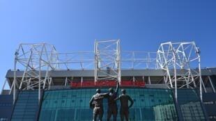 El estadio de Old Trafford, del equipo de fútbol inglés Manchester United, en una imagen del 21 de abril de 2020